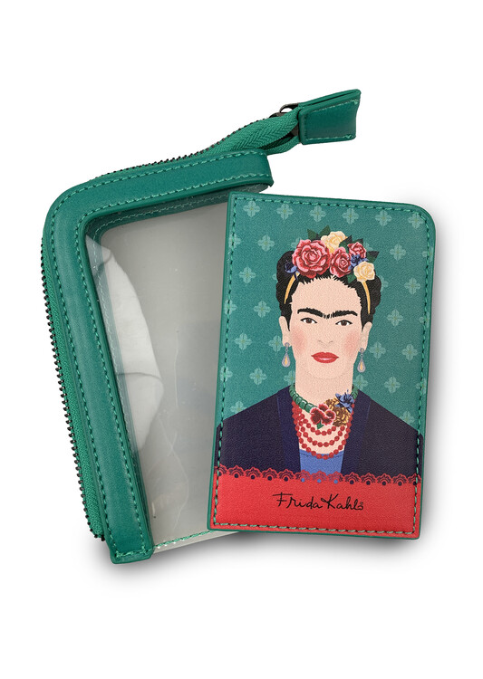 Card holder Frida Kahlo - Green Vogue