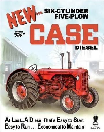 CASE - 500 diesel Plaque métal décorée