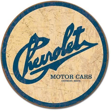 CHEVY - Chevrolet Historic Logo Plaque métal décorée