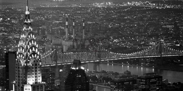 Chrysler Building and Queensboro Bridge  Reproduction