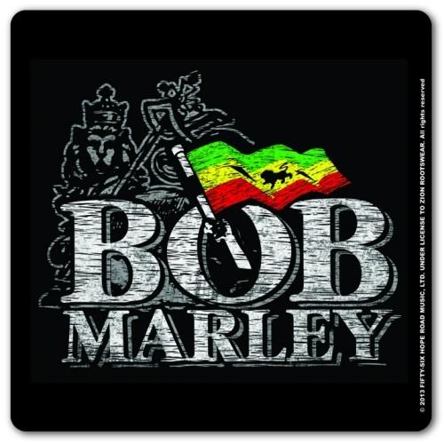 Bob Marley - Distressed Logo Coaster