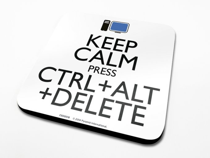 Keep Calm Alt Delete Coaster