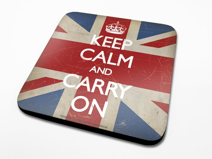 Keep Calm - Union Jack Coaster