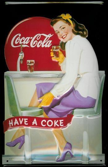 COCA COLA - COKE DINNER G. 3D Plaque métal décorée