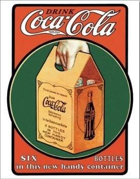 COCA COLA SIX PACK Plaque métal décorée