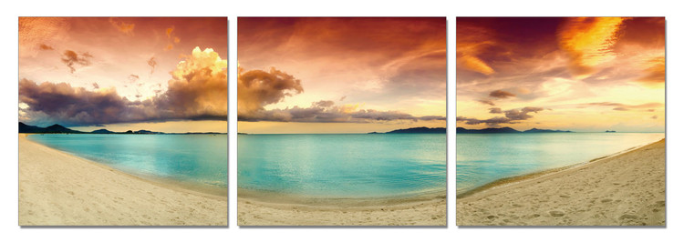 Colorful Beach Tableau Multi-Toiles