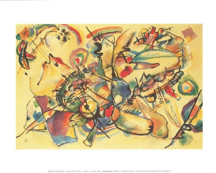 Composition 1917 Reproduction d'art