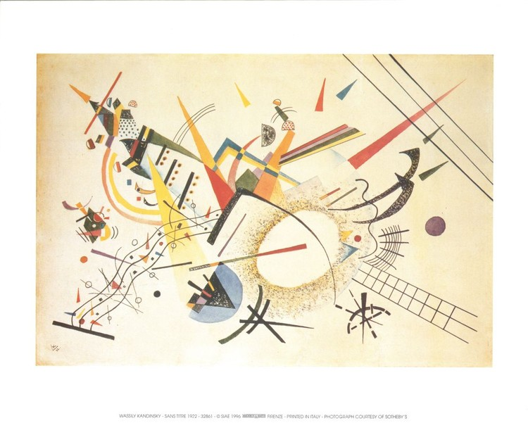 Composition 1922 Reproduction d'art