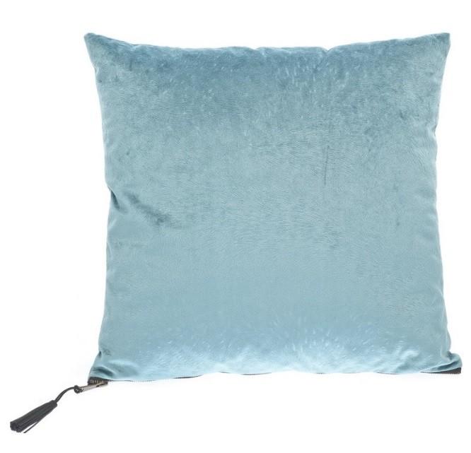 Cushion Pillow Fur Light Blue