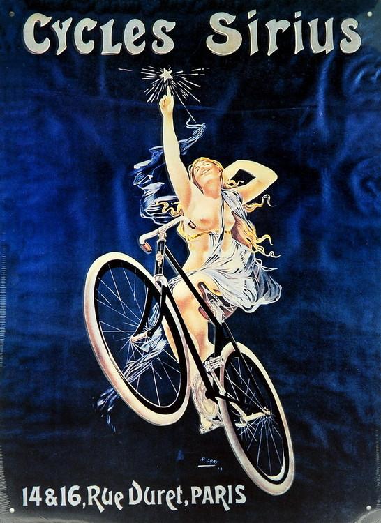 CYCLES SIRIUS Plaque métal décorée