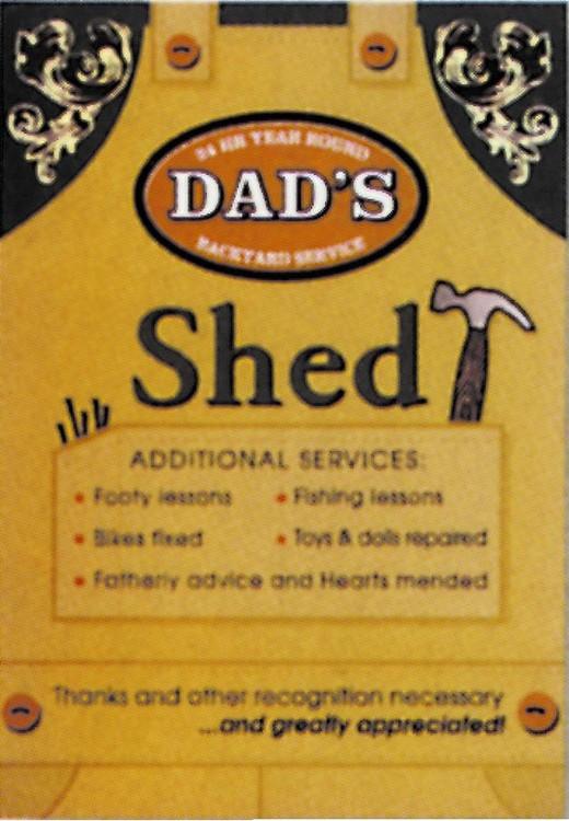 DAD'S - Shed Plaque métal décorée