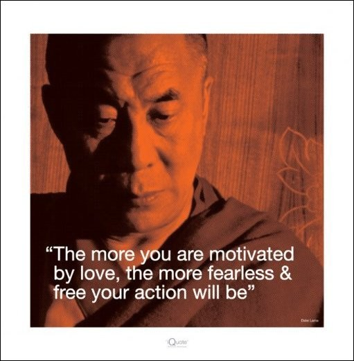 Dalai Lama - Quote Reproduction d'art