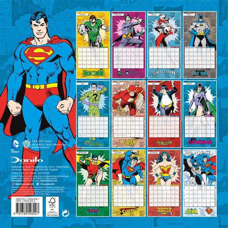 Uri Calendar 2022.Dc Comics Wall Calendars 2022 Large Selection