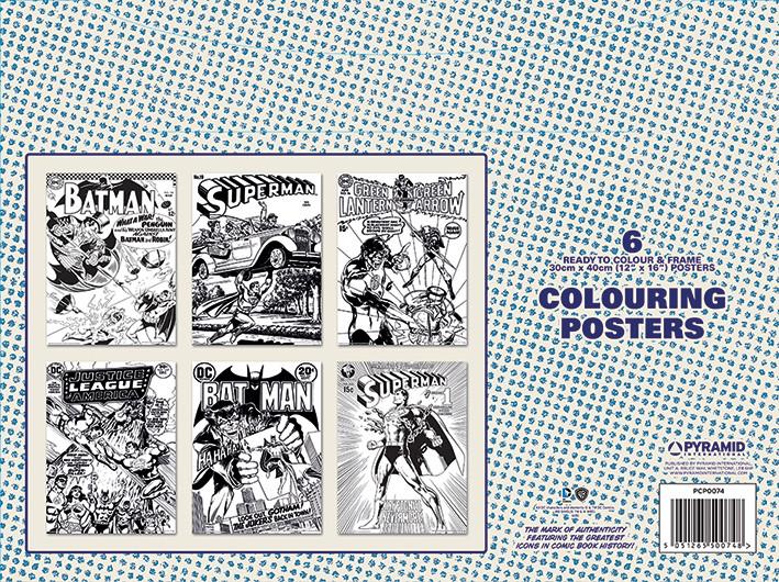 Coloring poster DC Originals - Retro