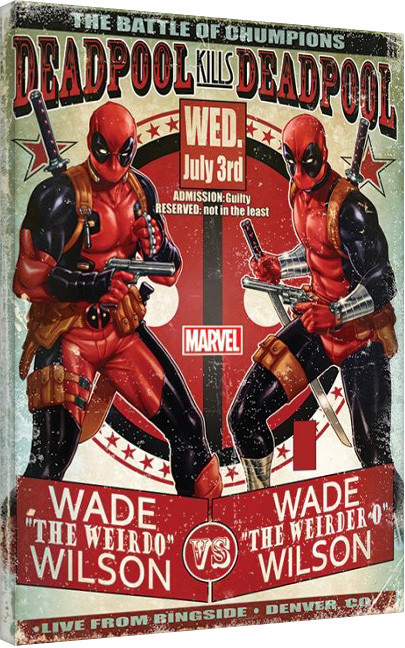 Deadpool - Wade vs Wade Canvas Print