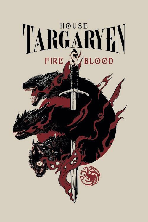 Murais de parede A Guerra dos Tronos - House Targaryen