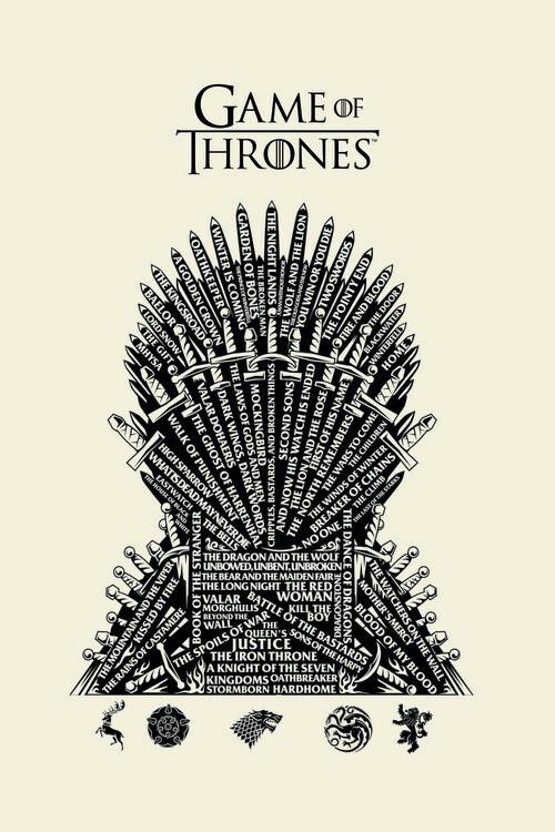 Murais de parede A Guerra dos Tronos - Iron Throne