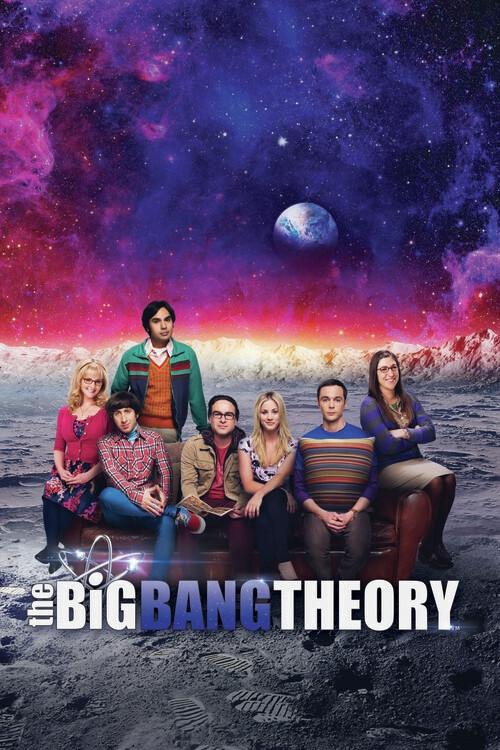 Murais de parede A Teoria do Big Bang - Na Lua