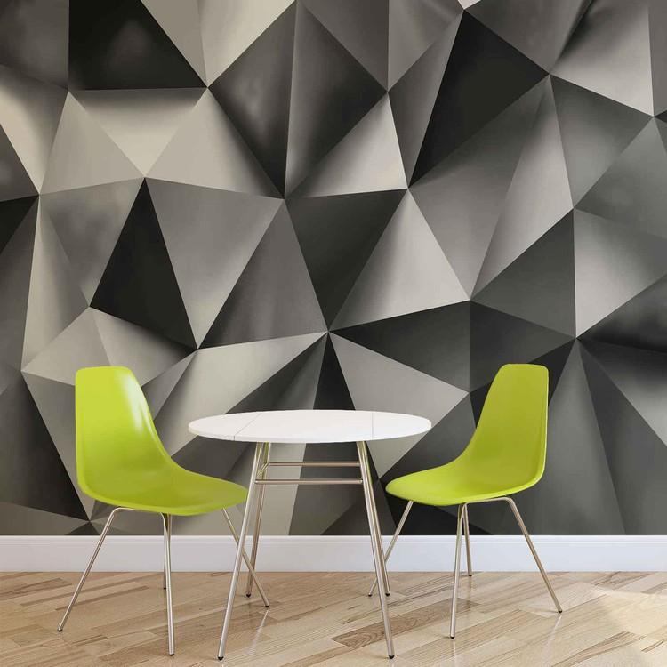 Papel de parede Abstract Art Grey