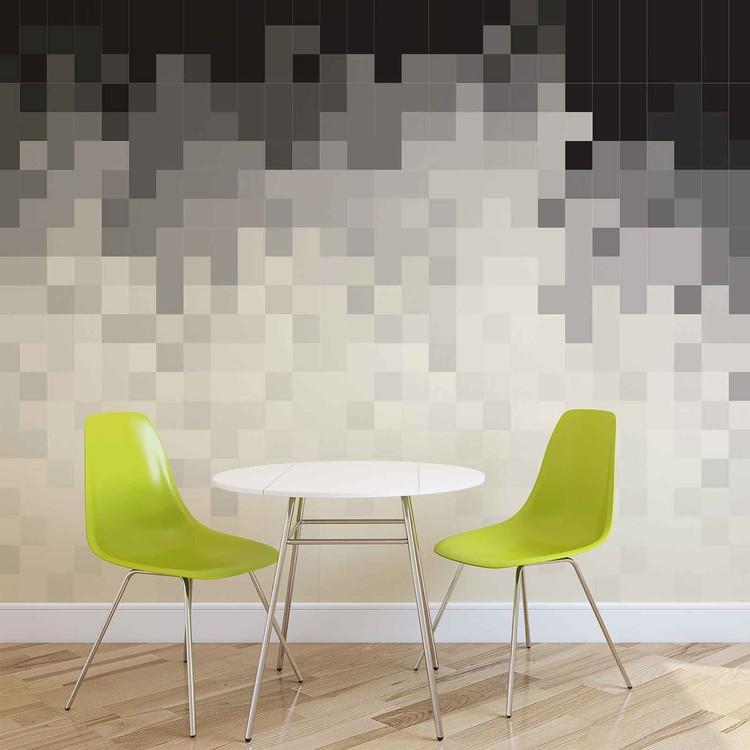Papel de parede Abstract Pattern Black White