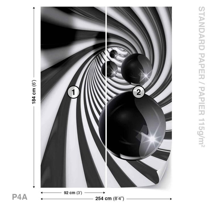 Papel de parede  Abstract Swirl Modern Spheres