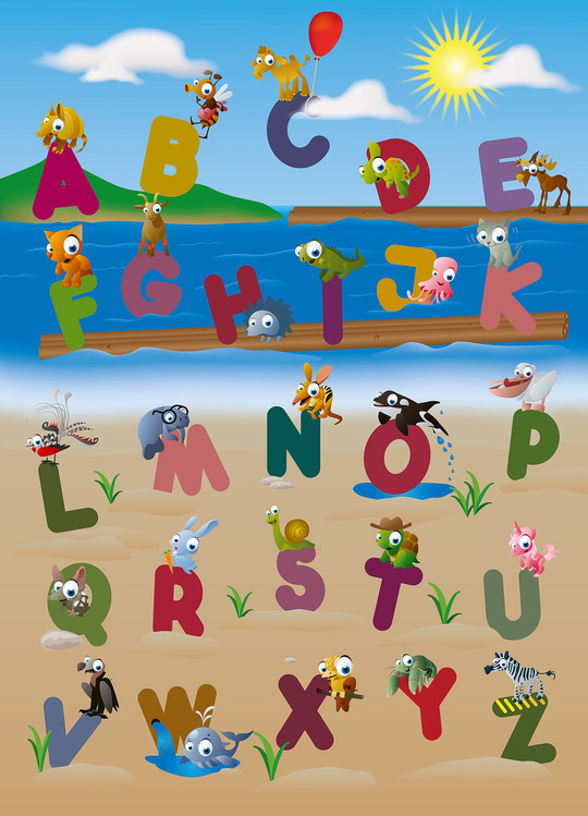 Papel de parede ANIMAL ALPHABET