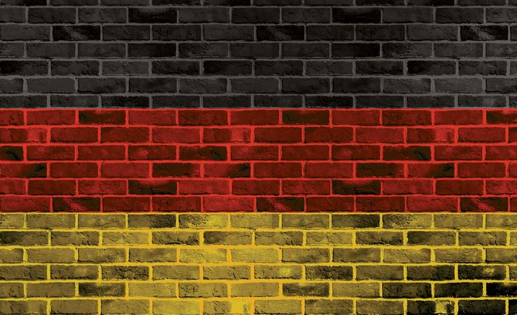 Papel de parede Brick German Flag