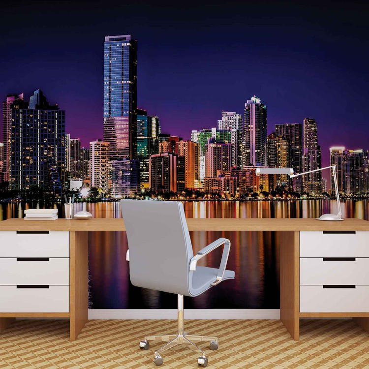 Papel de parede  City New York Skyline Night