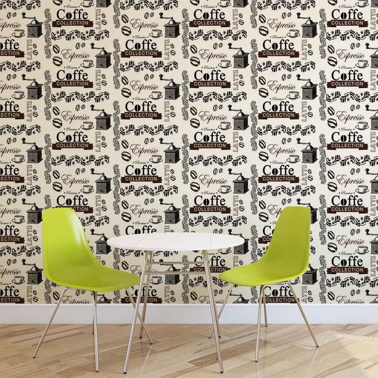 Papel de parede Coffee Pattern