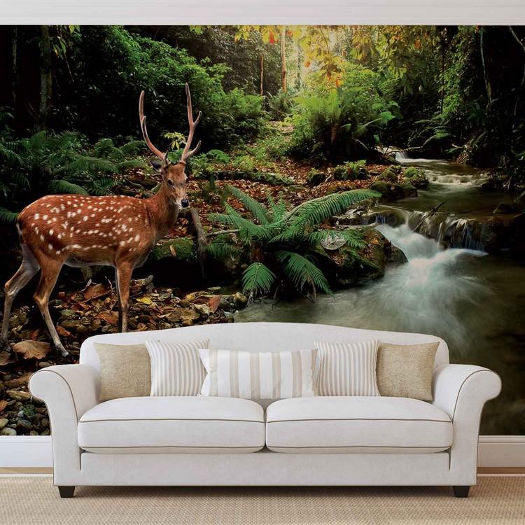Papel de parede  Deer in Forest