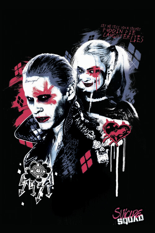 Murais de parede Esquadrão Suicida - Harley e Joker