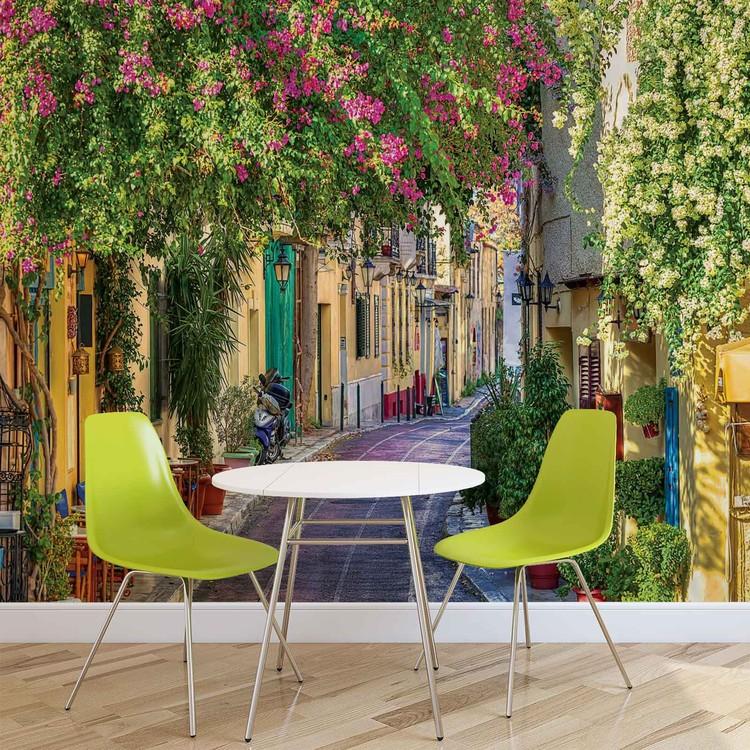 Papel de parede Flower Street Way Café