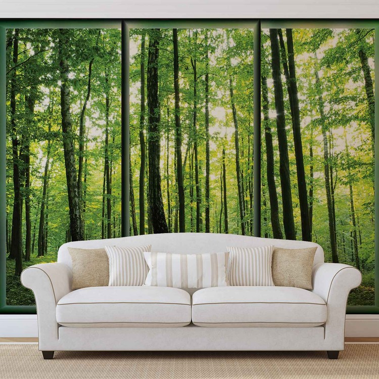 Papel de parede Forest Trees Green Nature
