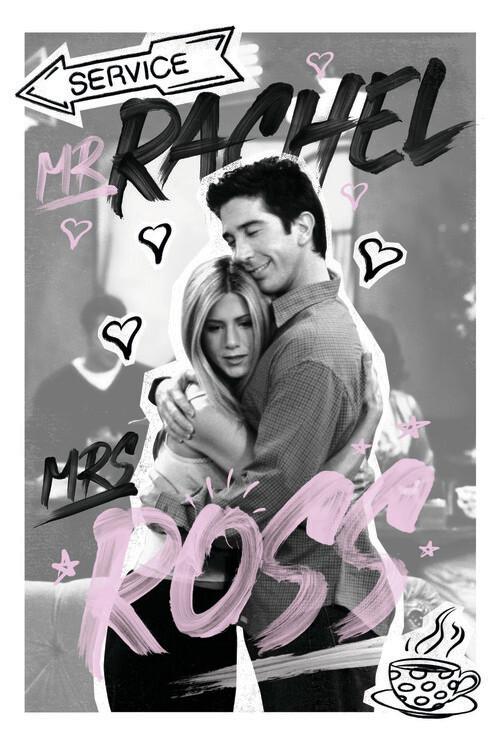 Murais de parede Friends - Rachel & Ross