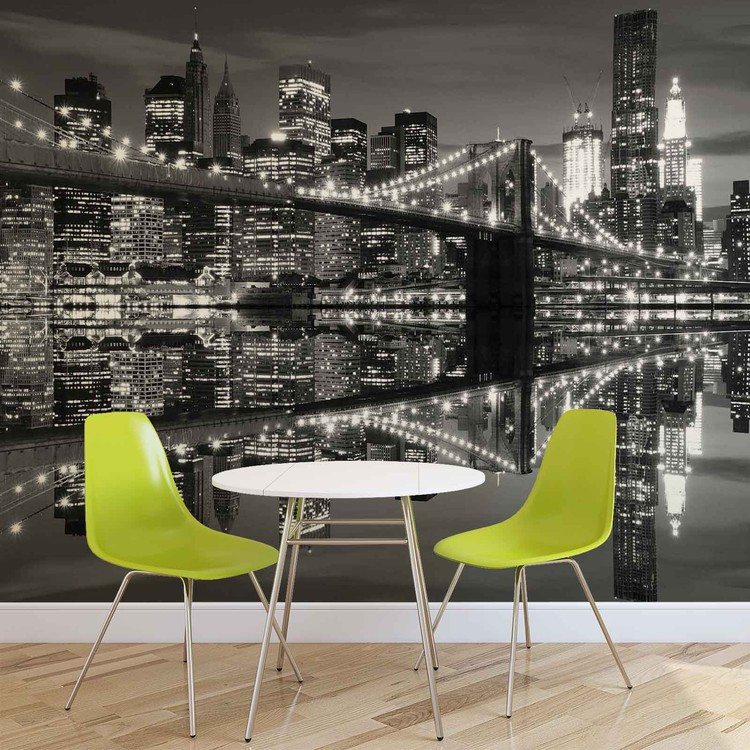 Papel de parede  New York City Skyline Brooklyn Bridge