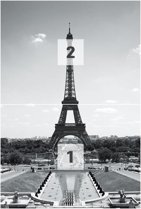 Decoração de parede Paris - Eiffel Tower