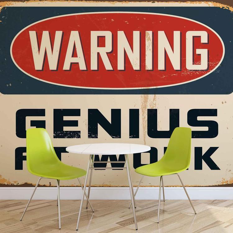Papel de parede Retro Poster Genius