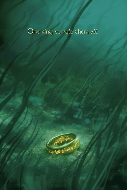 Murais de parede The Lord of the Rings - One ring to rule them all