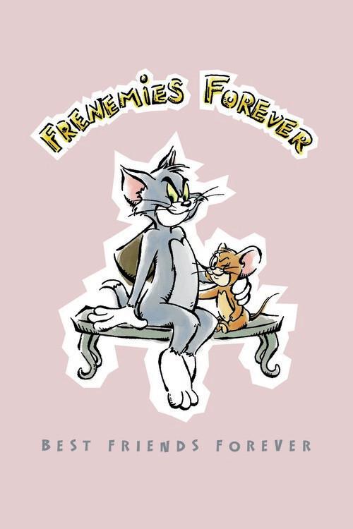 Murais de parede Tom e Jerry - Melhores amigos para sempre