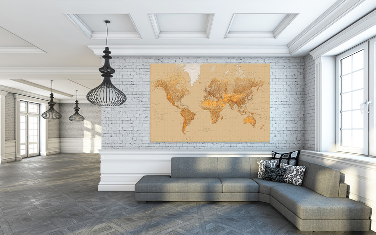 Papel de parede World Map - Antique Style