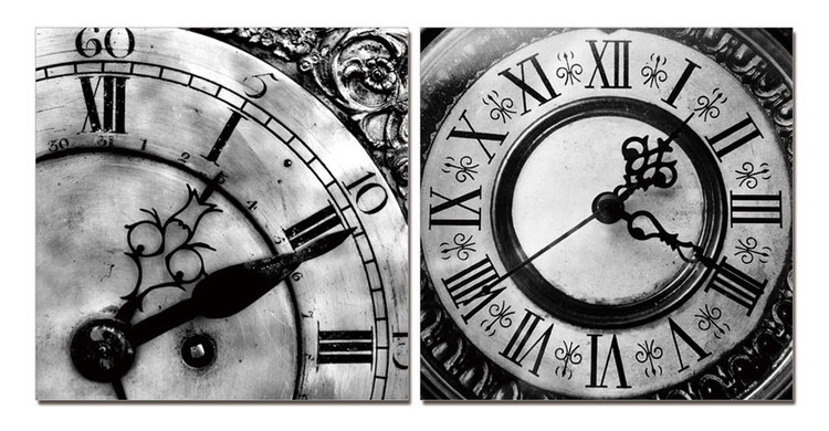 Designer clocks (B&W) Tableau Multi-Toiles