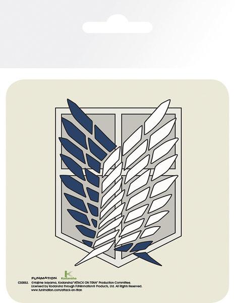Attack On Titan (Shingeki no kyojin) - Badge Dessous de Verre