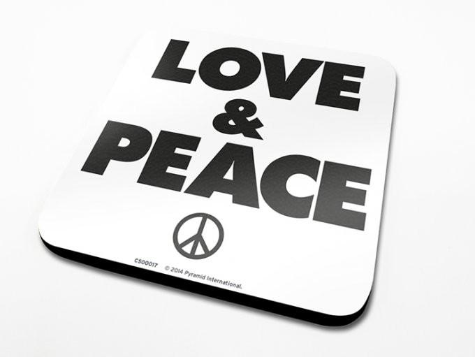 Love & Peace Dessous de Verre