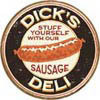 DICK'S  SAUSAGES Plaque métal décorée
