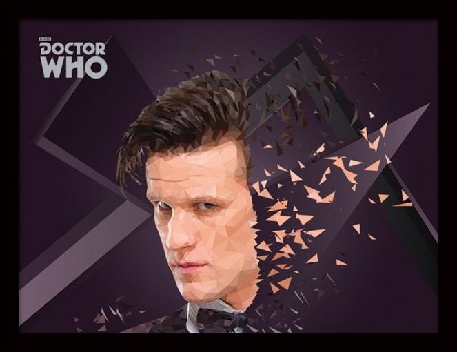 Doctor Who - 11th Doctor Geometric Poster encadré en verre