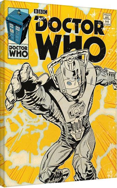 Doctor Who - Cyberman Comic Canvas Print