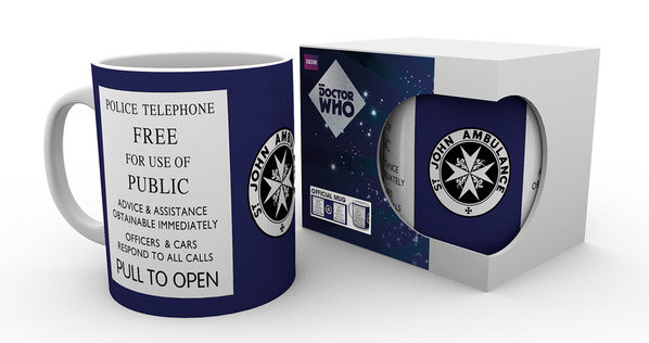 Cup Doctor Who - Tardis Sign