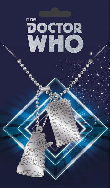 Dog tag Doctor Who - Tardis and Dalek