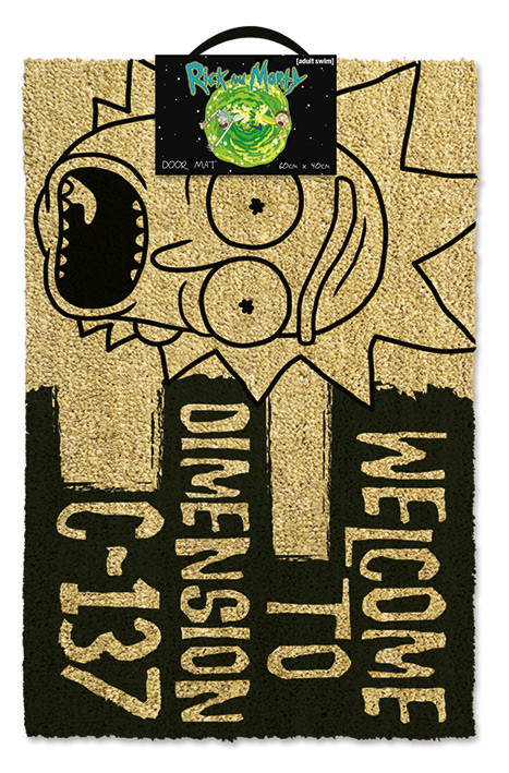 Doormat  Rick and Morty - Dimension C-137 Black