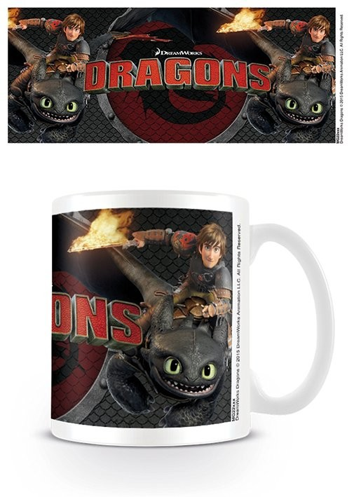 Mug Dragons - Toothless and Hiccup
